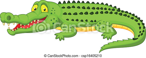 Crocodile cartoon  - csp16405210