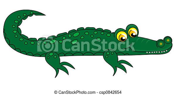 Crocodile clip-art. - csp0842654