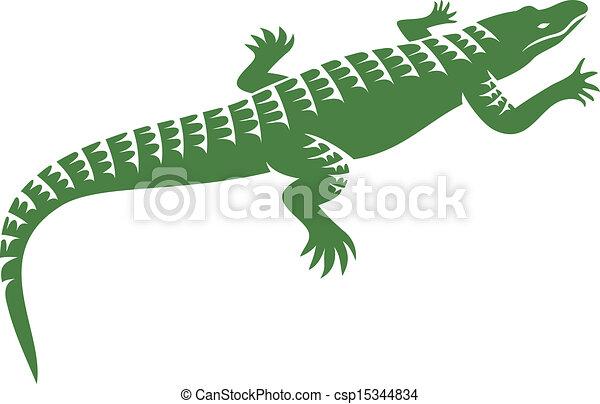 crocodile design - csp15344834