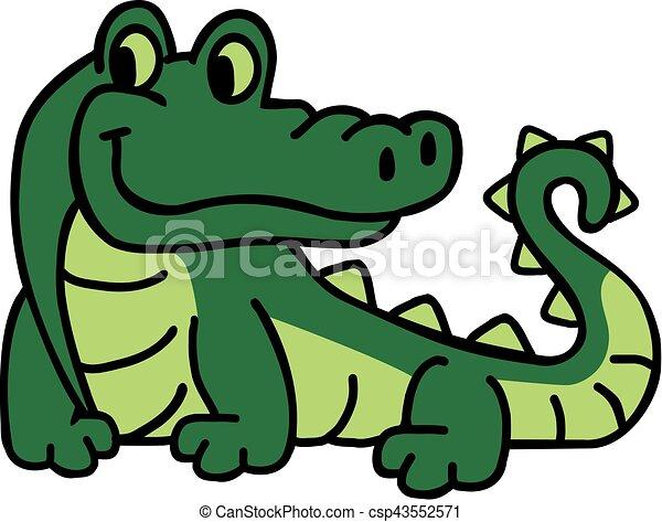 Crocodile dessin anim illustration vecteurs rechercher - Image crocodile dessin ...