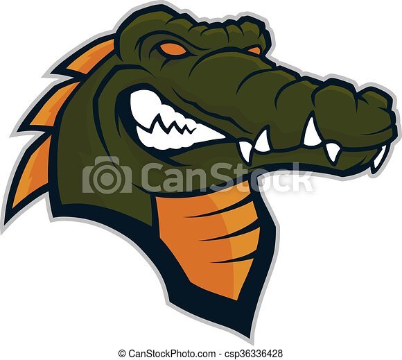 Crocodile head mascot - csp36336428