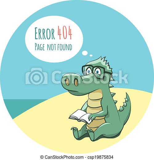 Crocodile With a Book - Error 404 - csp19875834