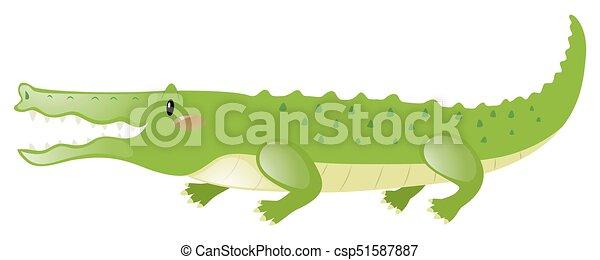 Crocodile with happy face - csp51587887