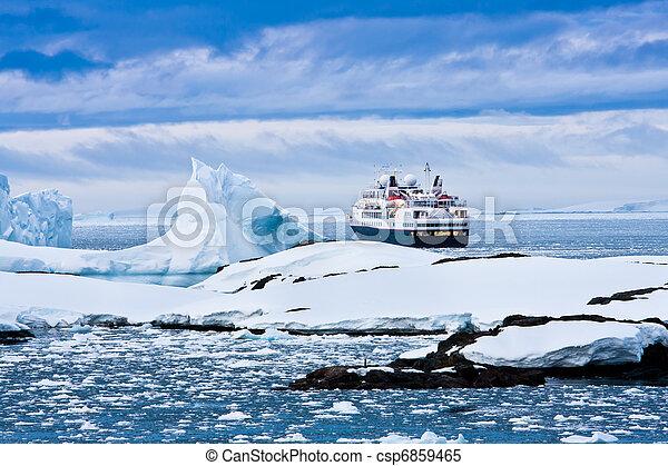 croisière bateau, grand - csp6859465