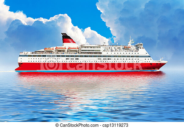 croisière bateau, océan - csp13119273