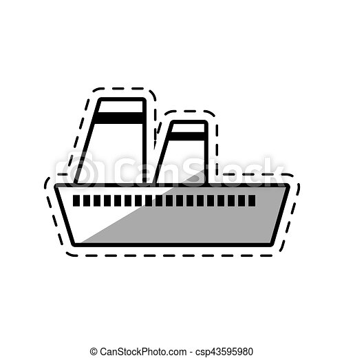 croisière bateau, ombre, maritime, voyage - csp43595980