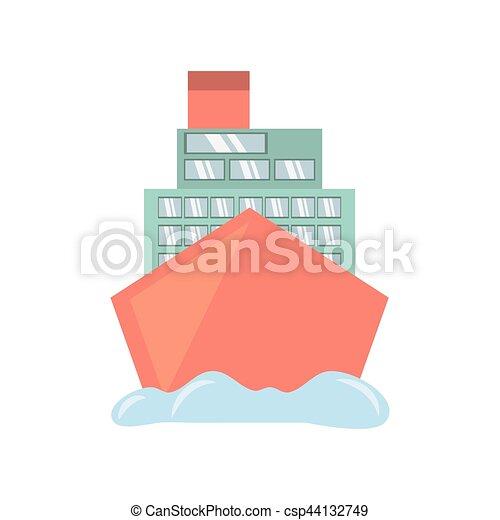 croisière bateau, voyage, océan vacances - csp44132749