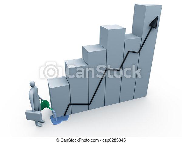 croissance, business - csp0285045