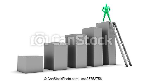croissance, business - csp38752756