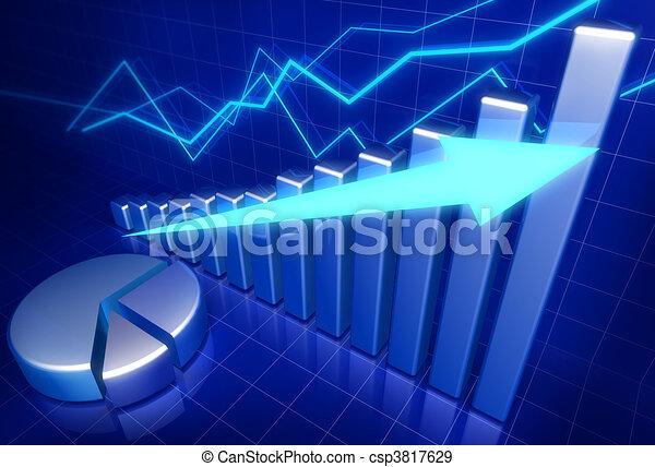 croissance, concept affaires, financier - csp3817629