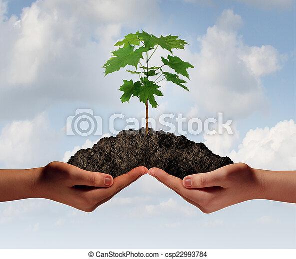 croissance, coopération - csp22993784