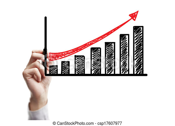 croissance, dessin, business - csp17607977