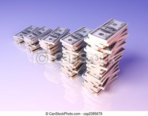 croissance, dollar, profit - csp2385679