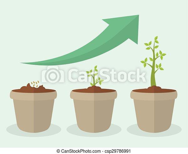 croissance, financier, design. - csp29786991