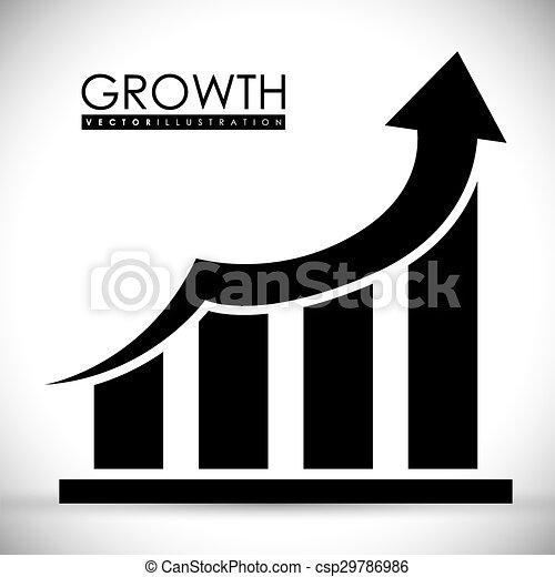 croissance, financier, design. - csp29786986