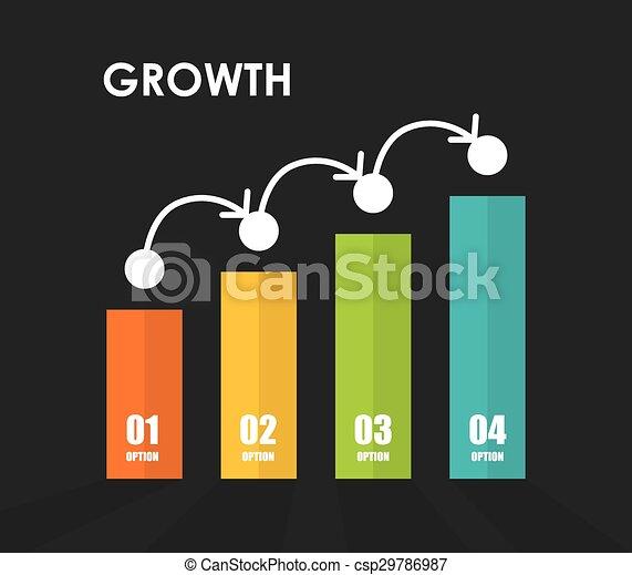 croissance, financier, design. - csp29786987