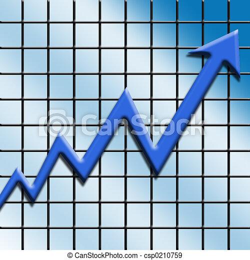 croissance, financier - csp0210759