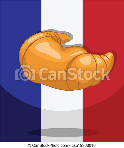 croissant bakery french flag background rh canstockphoto com Luxembourg Flag france flag clipart