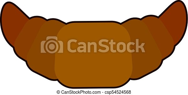 Croissant icon in flat style isolated on white background vector illustration - csp54524568