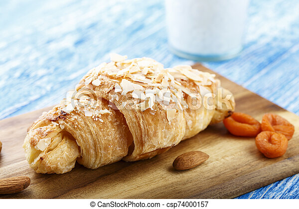 croissant on the table - csp74000157
