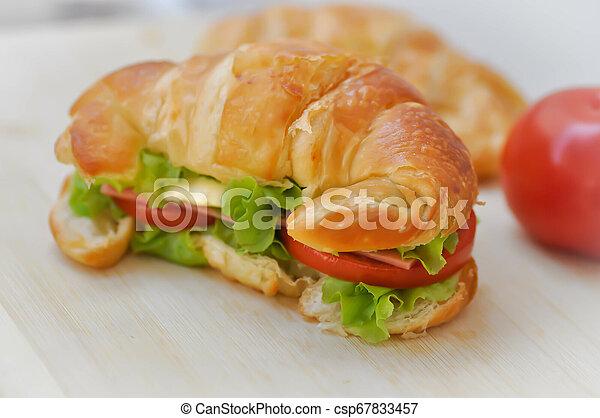 croissant sandwich - csp67833457