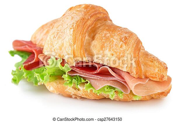 croissant sandwich with parma ham - csp27643150