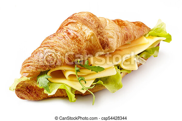 croissant with cheese - csp54428344