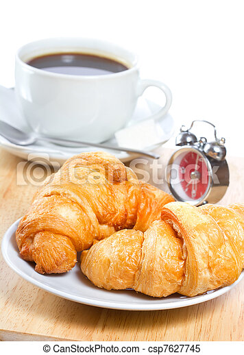 croissants and coffee - csp7627745