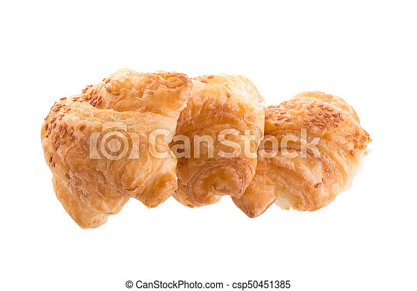 Croissants isolated on white background - csp50451385