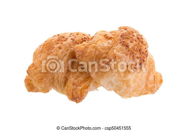 Croissants isolated on white background - csp50451555