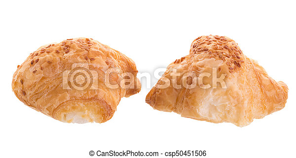 Croissants isolated on white background - csp50451506