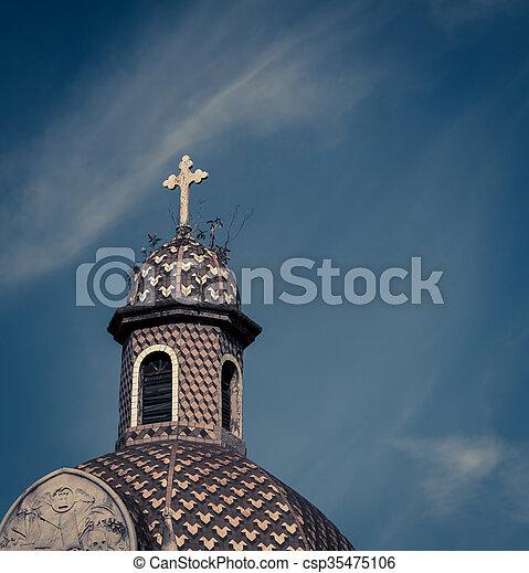 croix, cimetière, recoleta, dôme - csp35475106