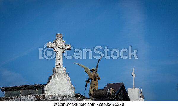 croix, cimetière, recoleta, dôme - csp35475370