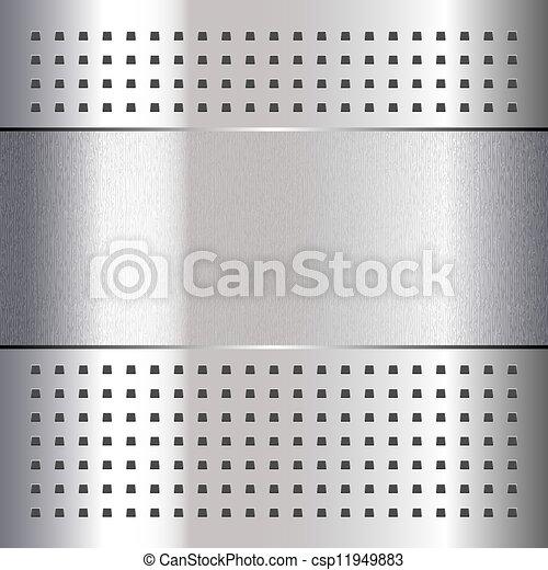 Rasguñado, en el fondo de metal cromo, 10eps - csp11949883