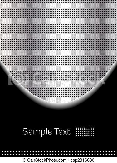 cromo, abstratos, experiência preta - csp2316630