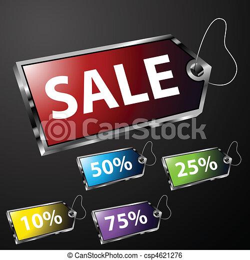 Etiquetas de precios cromados - csp4621276