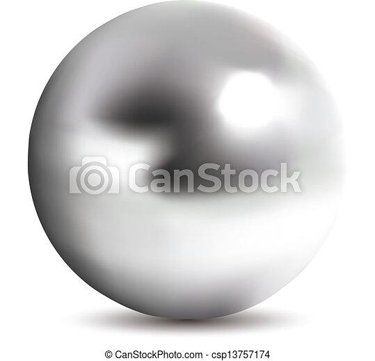 Bola de cromo fotorealista - csp13757174