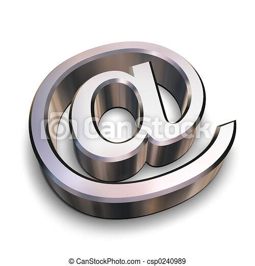 cromo, símbolo, 3d - csp0240989