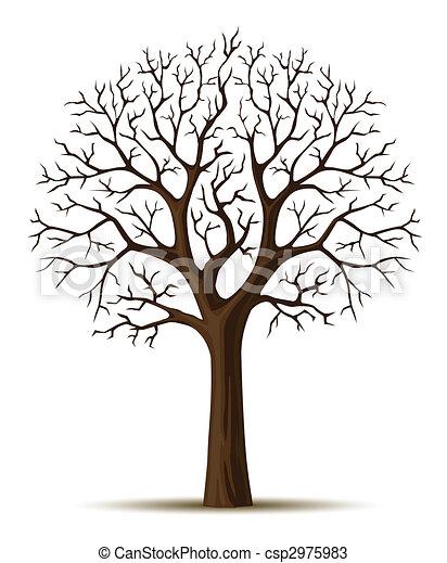 cron, 은 분기한다, 실루엣, 나무 - csp2975983