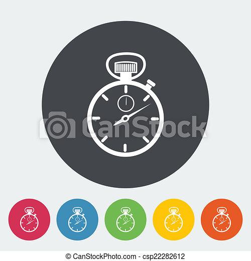 cronometro, icon. - csp22282612