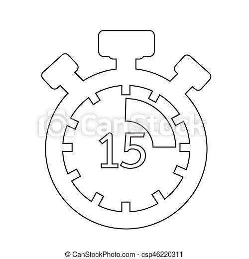 cronometro, icona - csp46220311