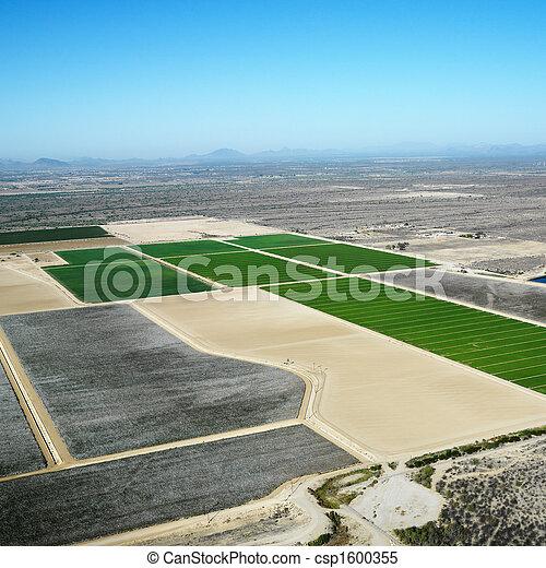 croplands., 航空写真 - csp1600355