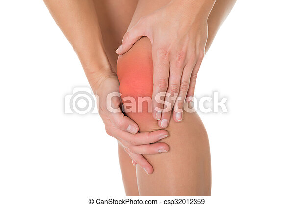 Cropped Image Of Woman Suffering From Knee Pain - csp32012359