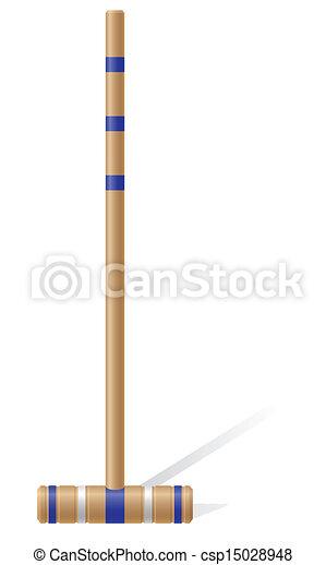 croquet, illustrazione, vettore, maglio - csp15028948