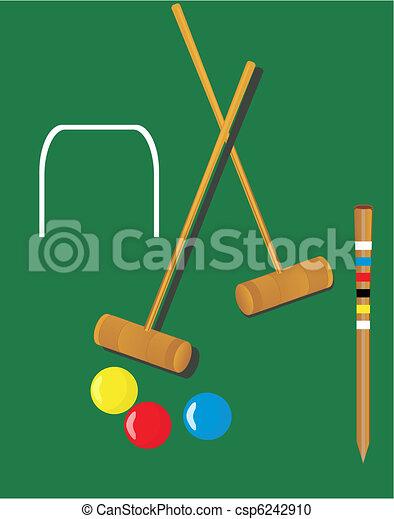 croquet, illustrazioni - csp6242910