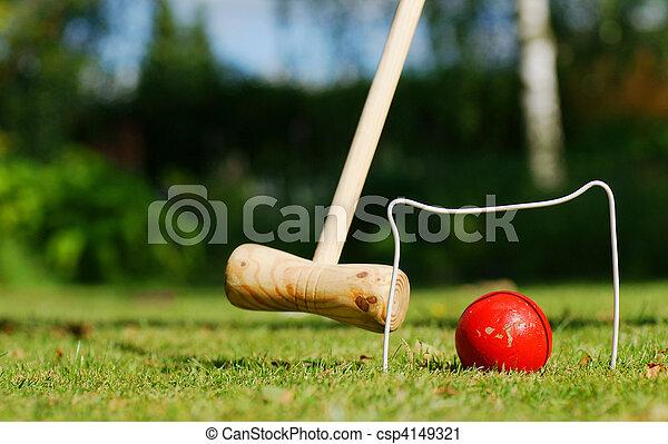 Croquet in the garden - csp4149321