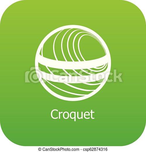 croquet, vettore, verde, icona - csp62874316