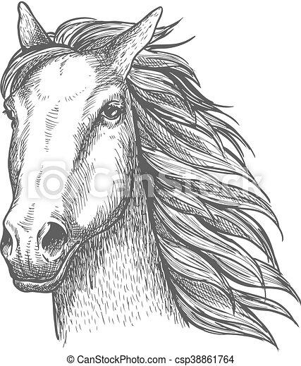 Croquis cheval course talon cheval th me courses - Dessin cheval de course ...