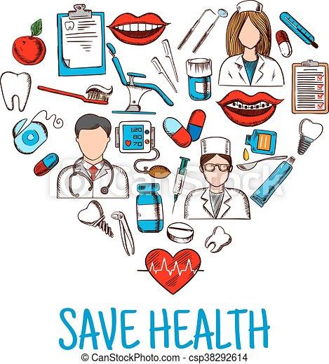 croquis  coeur  symbole  sant u00e9  sauver  monde m u00e9dical doctor symbol clipart free cartoon doctor clipart free