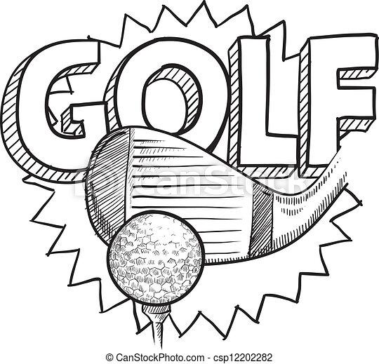 croquis, golf - csp12202282